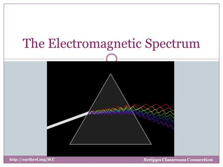 The Electromagnetic Spectrum Scripps Classroom Connection