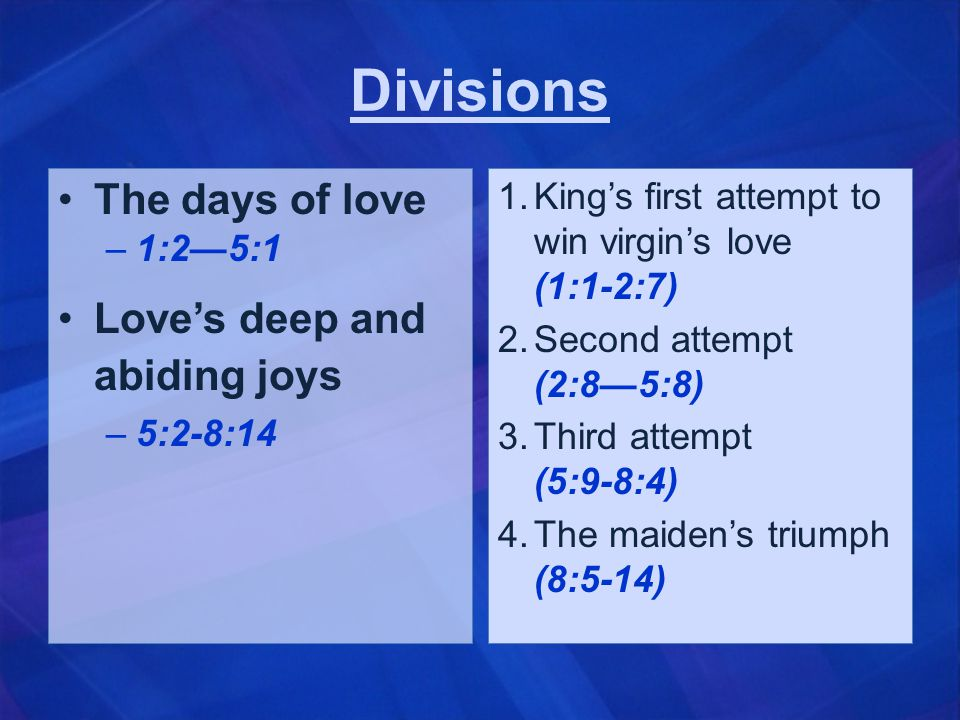 Interpretations… Poem is a spiritual allegory… Dominant Jewish view—lovers represent God and Israel.