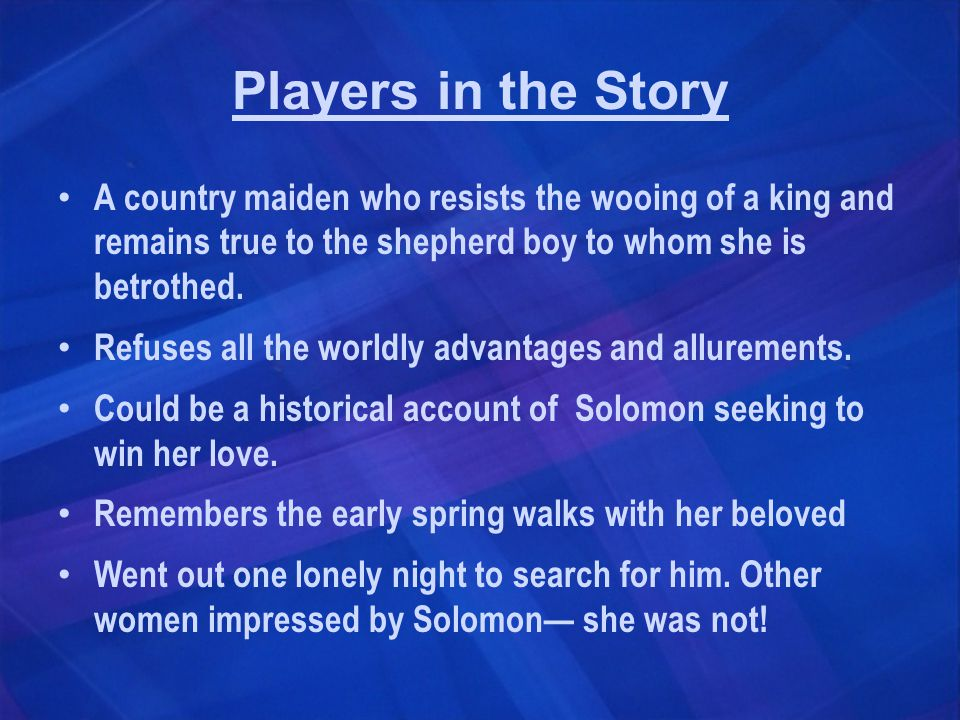 True Love Shown Others impressed and thought Solomon a great catch—she did not.