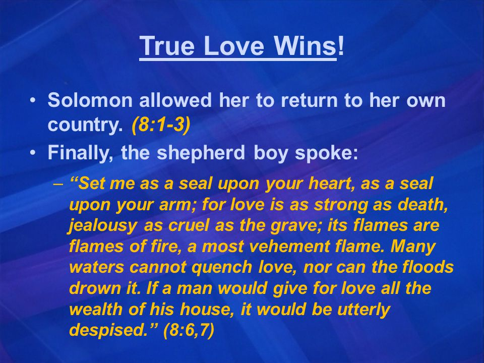 Meanings of the Book On the physical side, the book gives a beautiful and frank description of marital love.