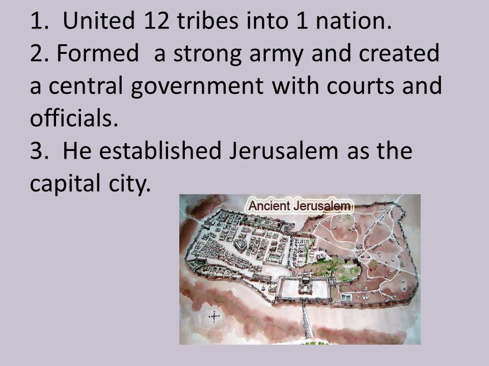 King Solomon made Jerusalem a holy city. What did he build?