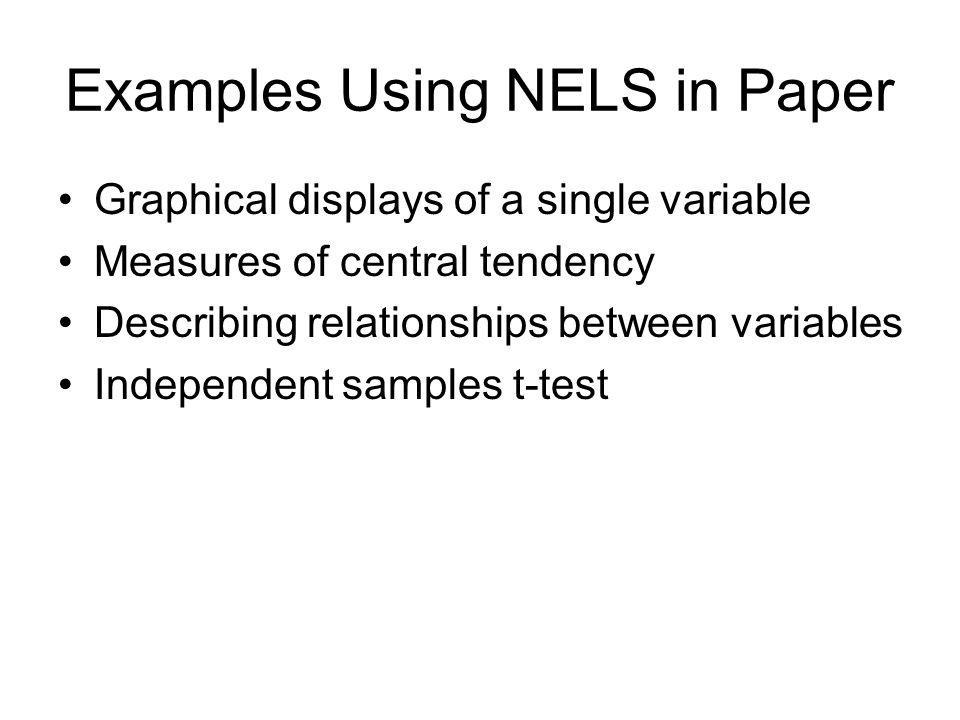 Describing relationships between variables Exemplify a variety of magnitudes for the Pearson correlation Exemplify relationships between variables with a variety of levels of measurement
