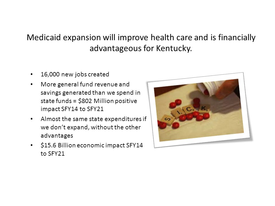 Improved Health Multiple studies show improved health outcomes with increased insurance coverage.