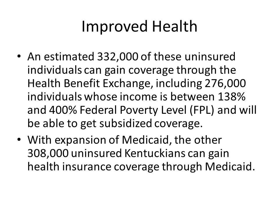 Pre-Medicaid Expansion