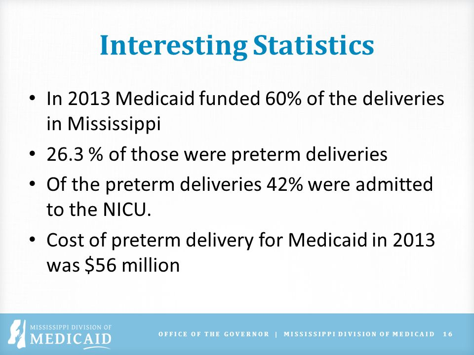 OFFICE OF THE GOVERNOR | MISSISSIPPI DIVISION OF MEDICAID17