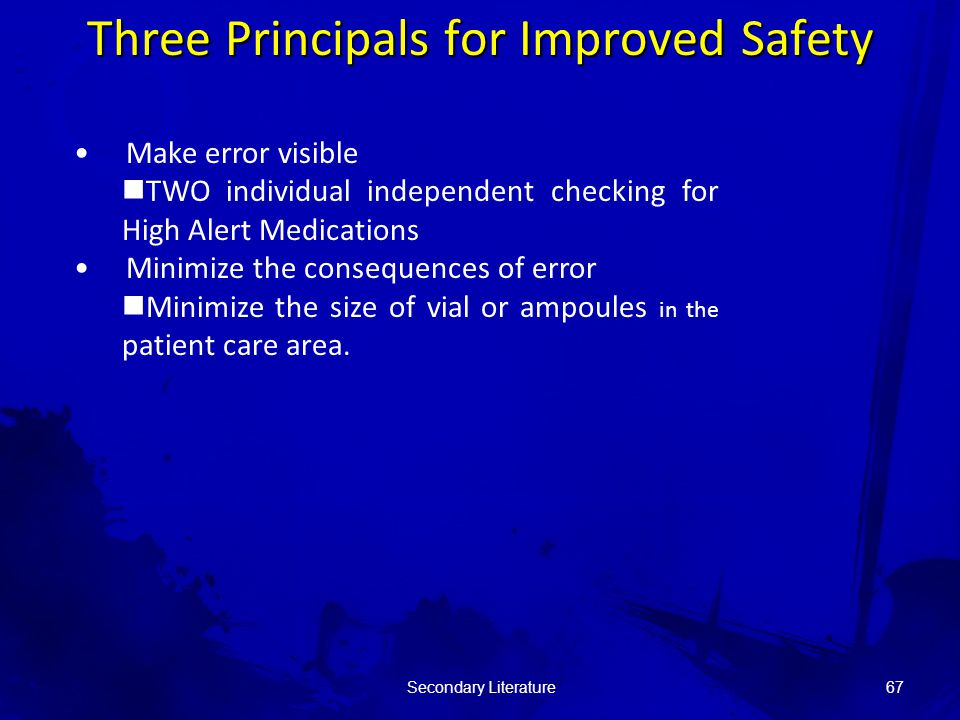 Make error visible TWO individual independent checking for High Alert Medications