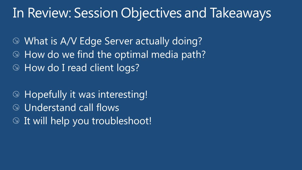 EXL411: Best Practices in Securing Your Microsoft Lync Server 2010 Edge Servers EXL33-HOL: Deploying a Microsoft Lync Server 2010 Architecture Product Demo Stations: Friday 13:00-15:00 70-664: TS: Microsoft Lync Server 2010, Configuring 70-665: PRO: Microsoft Lync Server 2010, Administrator Find Me Later At…