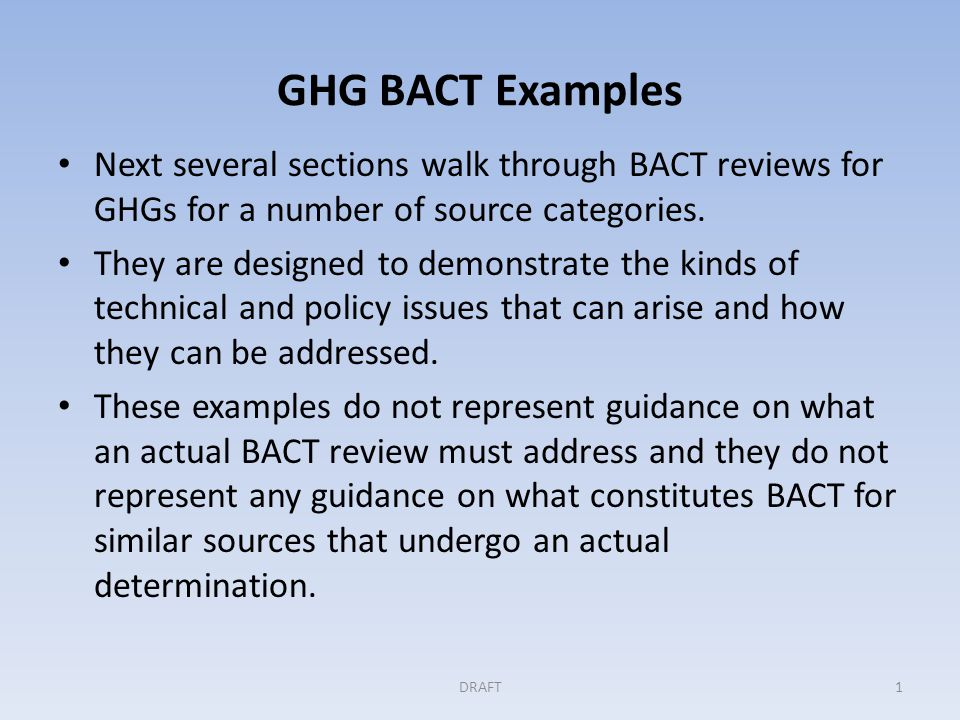 GHG BACT Example: Municipal Solid Waste Landfill