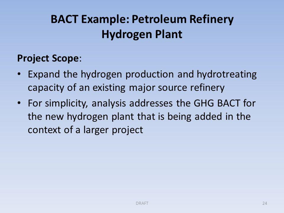 BACT Example: Petroleum Refinery Hydrogen Plant (cont'd) 25DRAFT