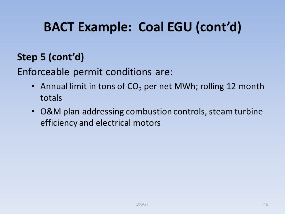 GHG BACT Example: Cement Plant