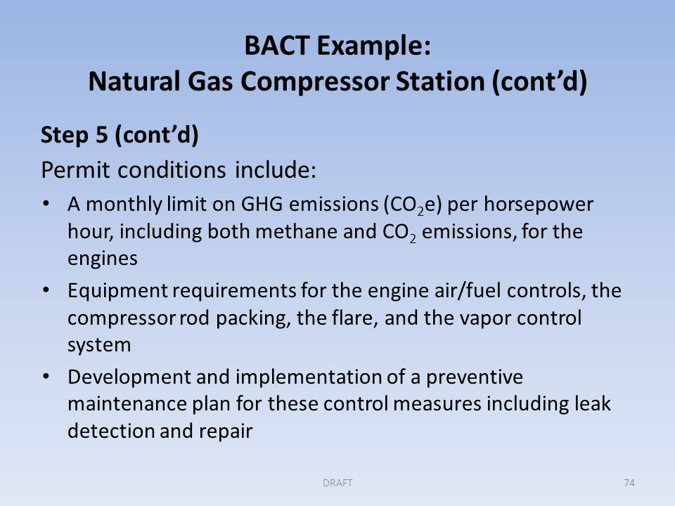 GHG BACT Example: Gas Turbine Electric Generating Unit