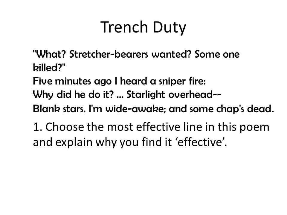 Explore the ways Attack and Trench Duty show what life is like in the trenches of World War 1.