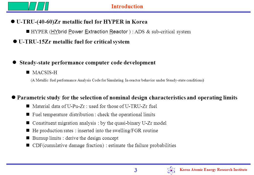 Korea Atomic Energy Research Institute MACSIS-H Code Description 4 ● Main structure - Fuel temp.