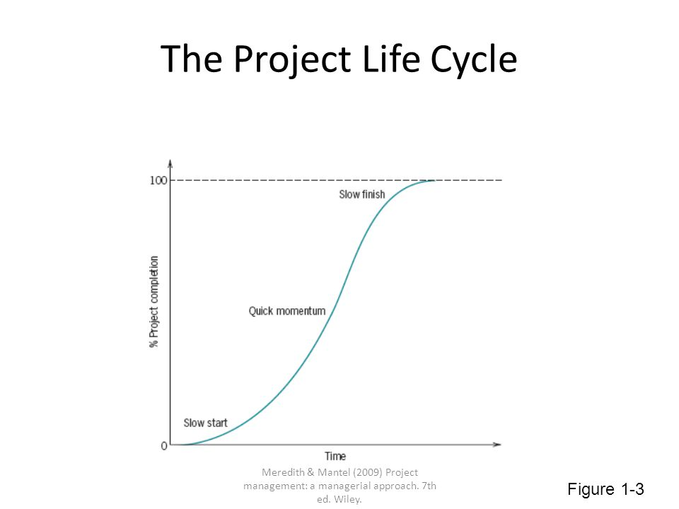 Time Distribution of Project Effort Figure 1-4 Meredith & Mantel (2009) Project management: a managerial approach.