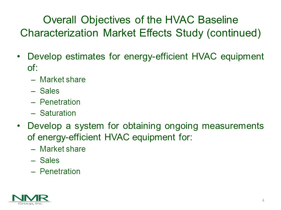 Agenda Overall Study Objectives Subprograms and Indicators of Progress Inputs to the HVAC Baseline Market Characterization Study Key Conclusions Recommendations 5