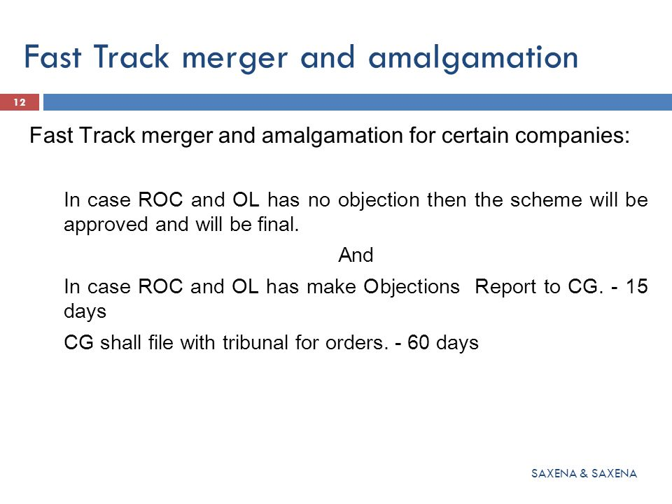 Merger & Amalgamation (Section 233) Amalgamation in public interest:  Powers with CG  Appeal in 30 days  Shall be laid before both the houses of parliament.