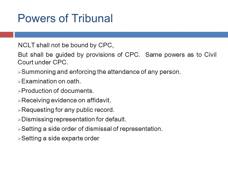 Powers of Tribunal  Power to contempt - as with High Court.