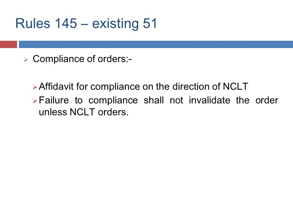 Appeal to NCLAT (Section 421)  No appeal on consent order.