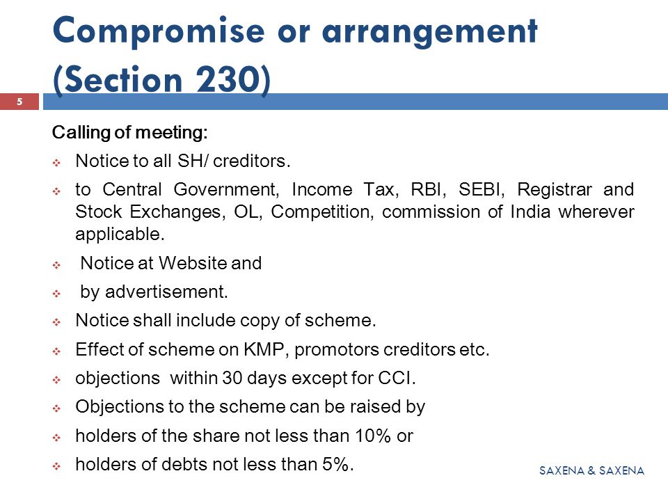  Resolution be passed by 3/4 th majority by share holders and creditors.
