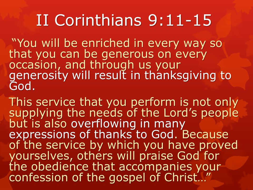 Biblical Model of Service? God Blesses Us So we will help others