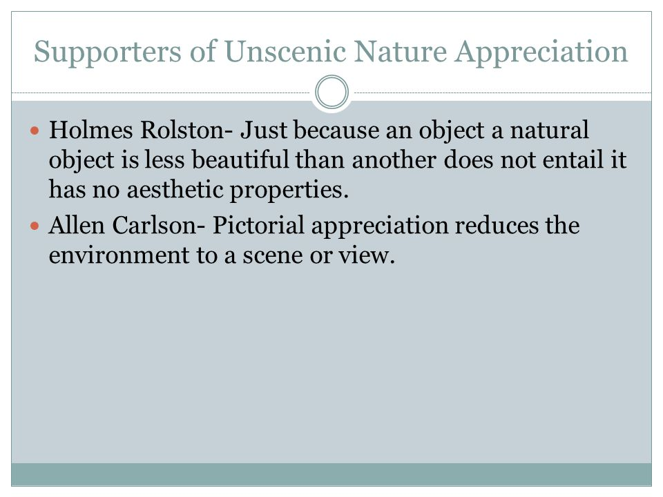 Why We Should Appreciate Unscenic Nature.