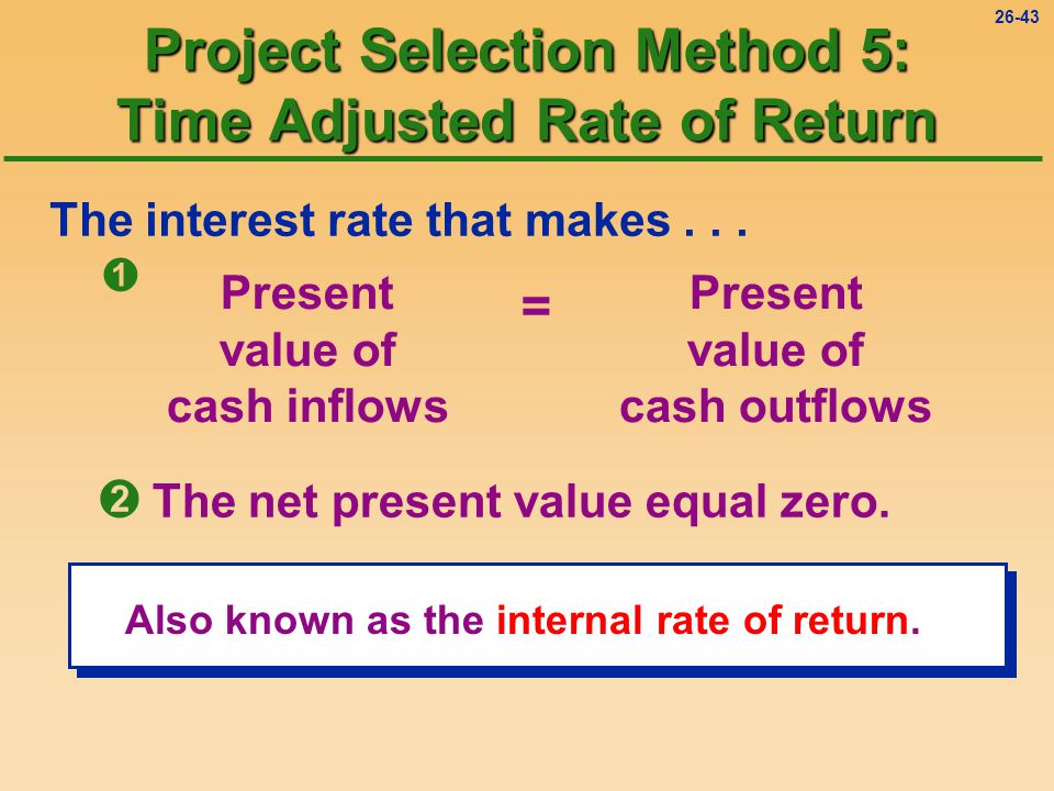 26-43 The interest rate that makes...