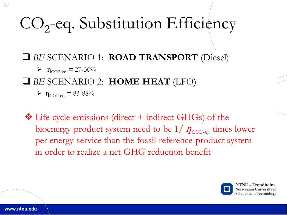 38 LFO Substitution Scenario ∆Land Use Sector Emission ∆Emissions, Net Total ∆Household Sector Emissions  Wood Pellets substitute LFO, at residential home, Norway BAU