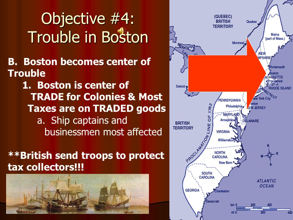 B.Boston becomes center of Trouble 1.