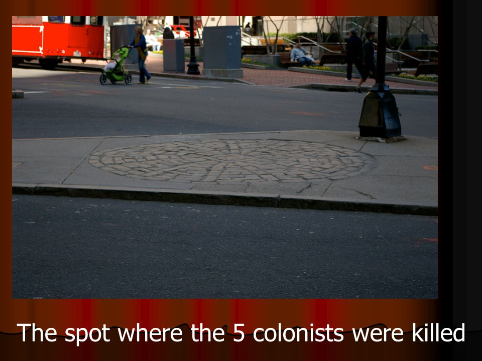 The spot where the 5 colonists were killed