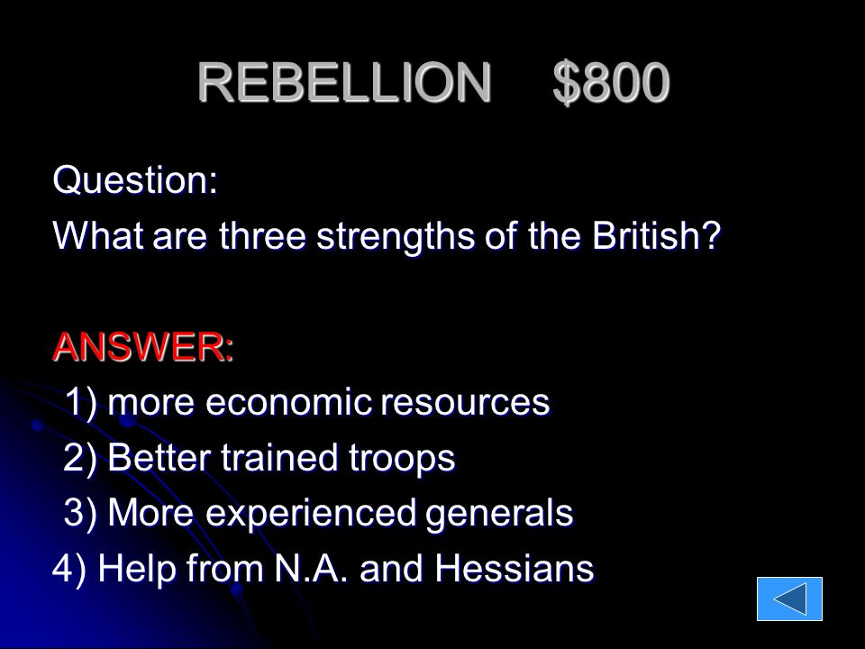 REBELLION $500 REBELLION $500 QUESTION: QUESTION: Why do we call the Battle of Lexington The Shot Heard Round the World ?