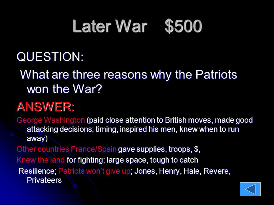 PATRIOT QUOTES $100 QUESTION: I have not yet begun to fight!