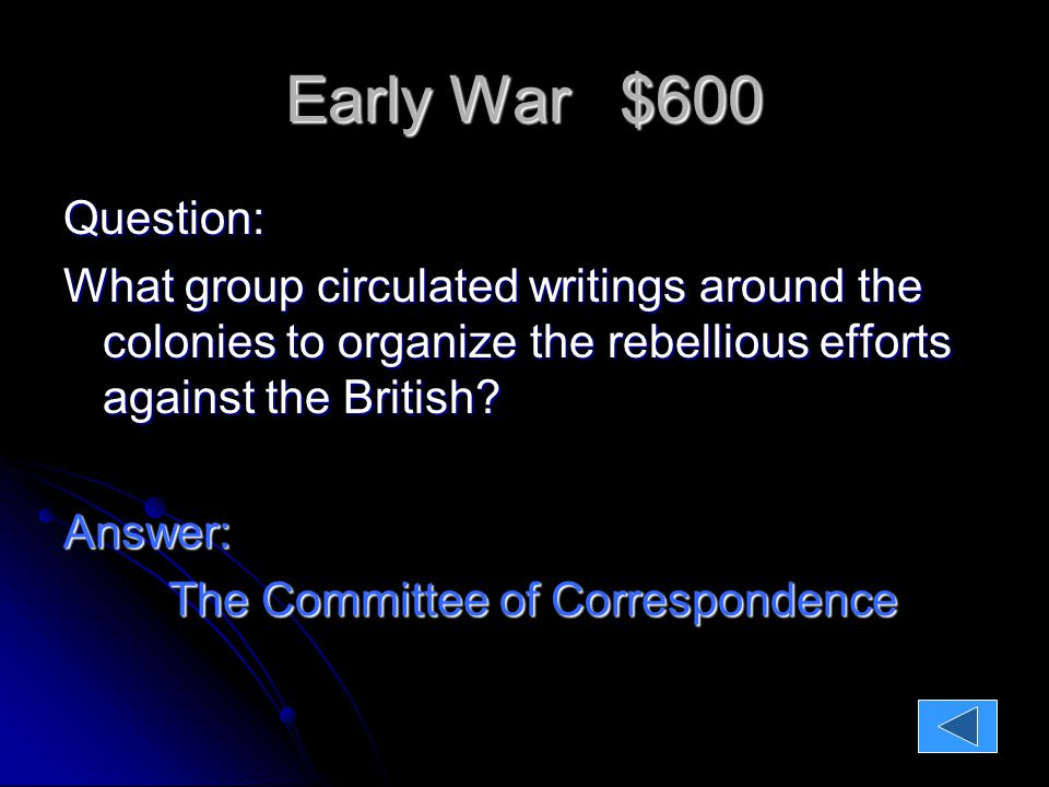 Early War $800 Question: Why was the battle of Concord considered a victory for the rebels.