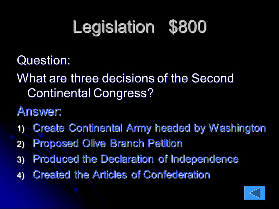 Legislation $1000 Question Explain the four sections of the Declaration of Independence.