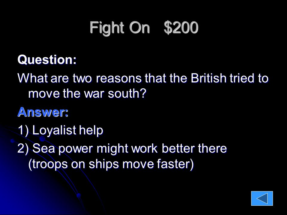 Fight On $400 Question: These three groups didn't benefit nearly as much as they had hoped from the Treaty of Paris.