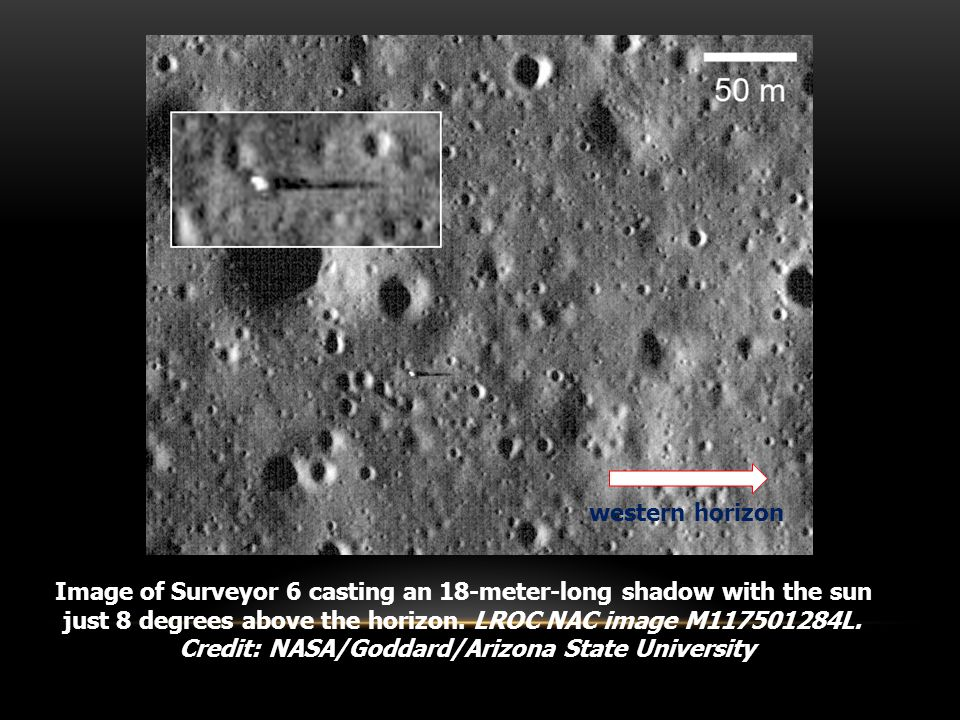 Surveyor's Images of Horizon Glow The image was taken by the Surveyor 6 on November 24, 1967, one hour after sunset.