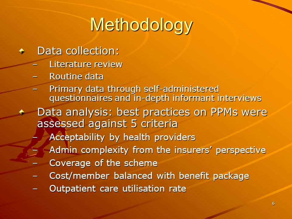7 Results: literature review on PPMs PPMs vary around the world and have been changing over time Each PPM carries a set of incentives affecting healthcare providers' behaviour The more aggregated unit of payment, the higher level of financial risk to healthcare providers A combination of different PPMs allows the strengths of one method to compensate for the weaknesses of the others There are 7 common PPMs: line item budget, global budget, salary (also in line item budget), capitation, case- based, per diem, and fee-for-service Table 2.doc Table 2.docTable 2.doc Many countries, mainly high and middle-income countries (be it tax-based or SHI-based), use a combination of capitation, case-based payment (often case mix and/or DRGs) and FFS with or without a fixed fee schedule