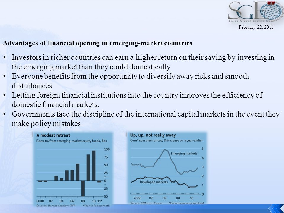 Assessing The effects of opening stock Markets to foreign investors Cost of Equity capital falls.