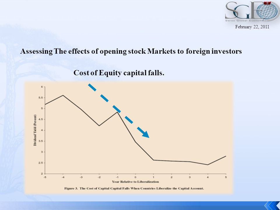 Assessing The effects of opening stock Markets to foreign investors Rate of capital formation rises February 22, 2011