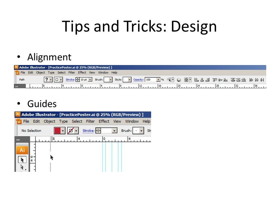 Tips and Tricks: Design Grouping Arranging