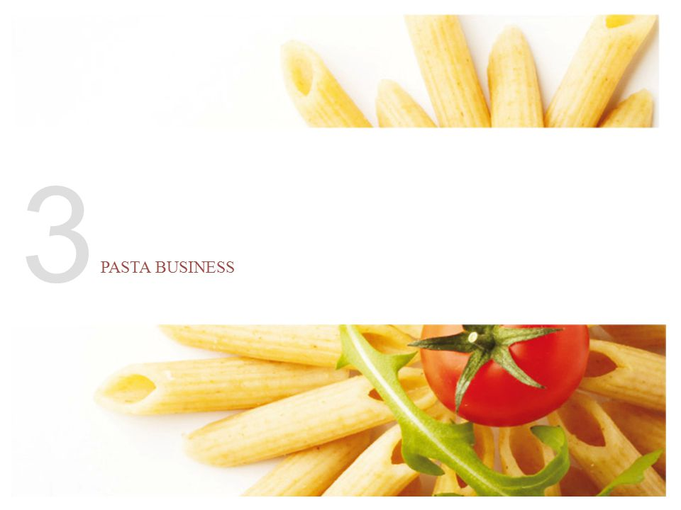 The Pasta Business Our first step in the Pasta business was the acquisition of Panzani in 2005 (€639 m).