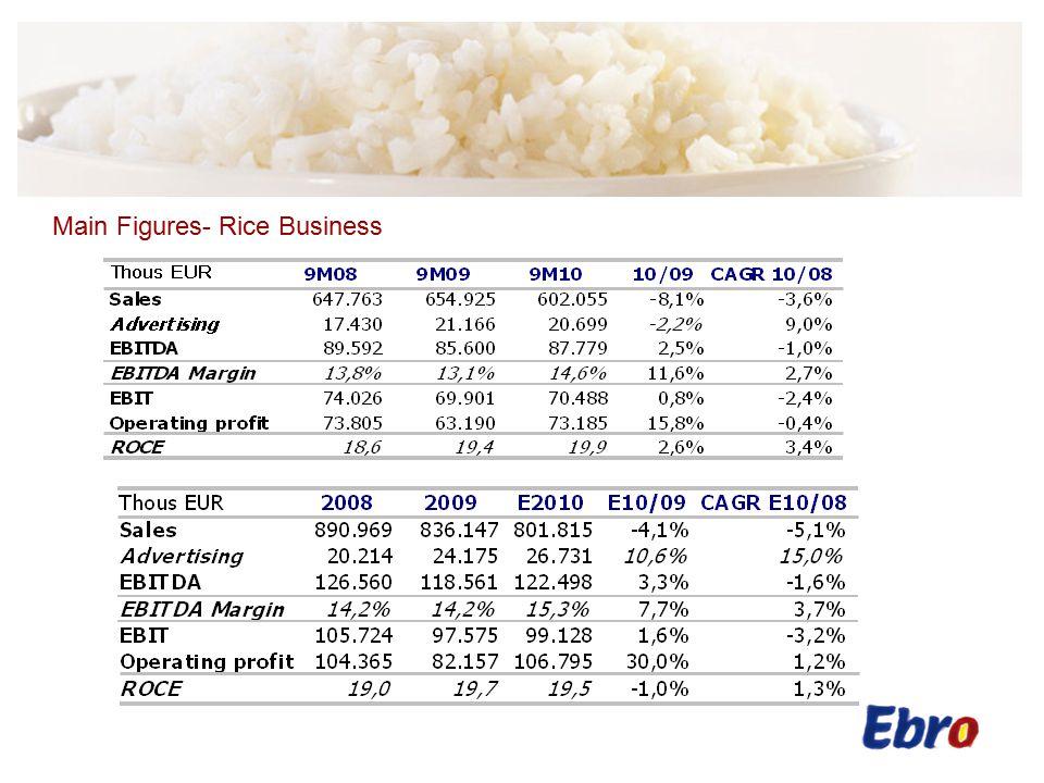 Main Figures- Pasta Business