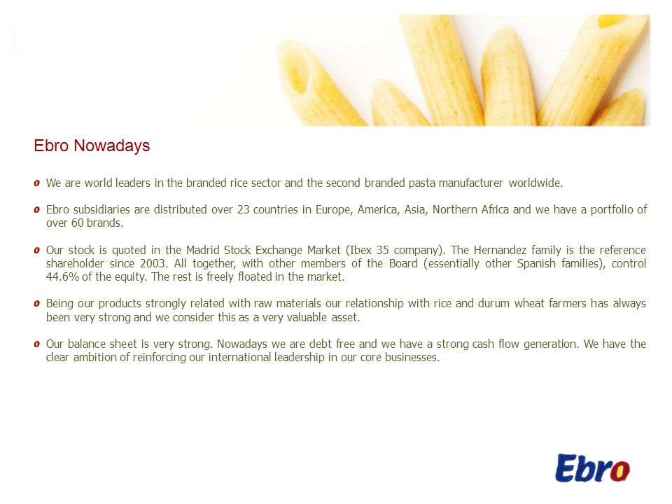 Breakdown of Ebitda Spain
