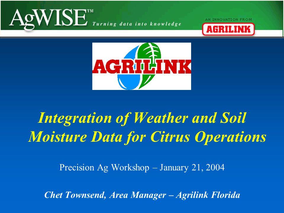Weather Monitoring Integrated Disease Models Soil Moisture Monitoring Internet Based Software
