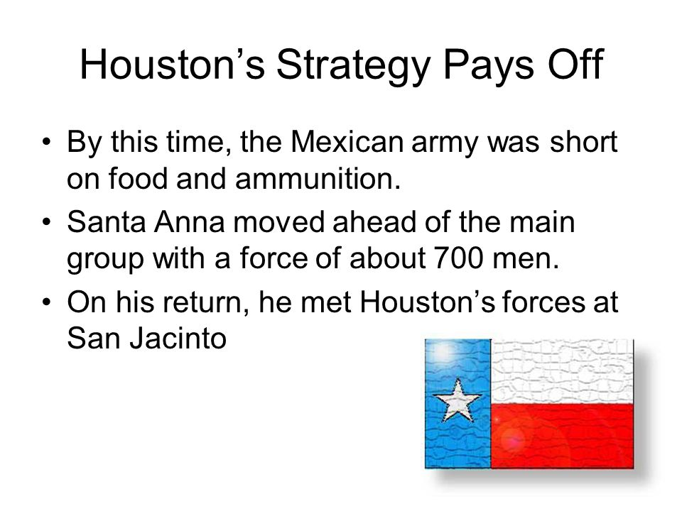 Sam Houston's Speech… We view ourselves on the eve of battle.