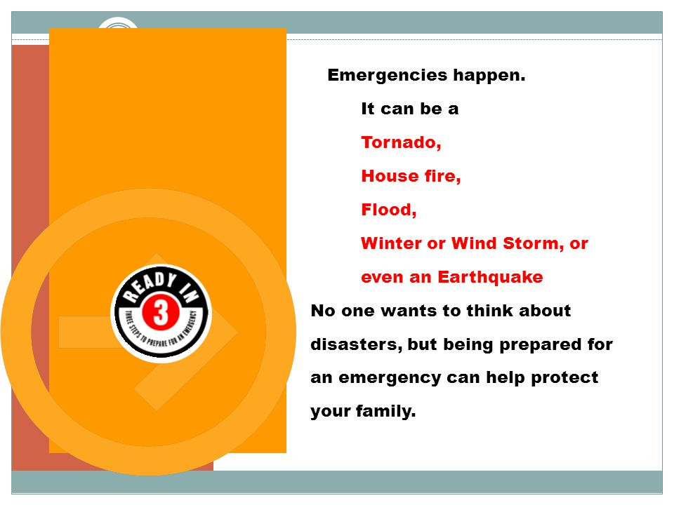 Are you prepared for an emergency.