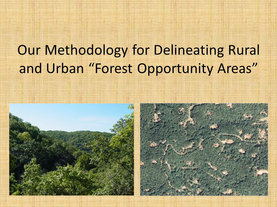 Definitions: Forest Opportunity Area (FOA) = Areas in the state, including both forested areas and areas well suited to reforestation, which present Missouri's best opportunities for sustaining forest resources and the benefits and services derived from them.