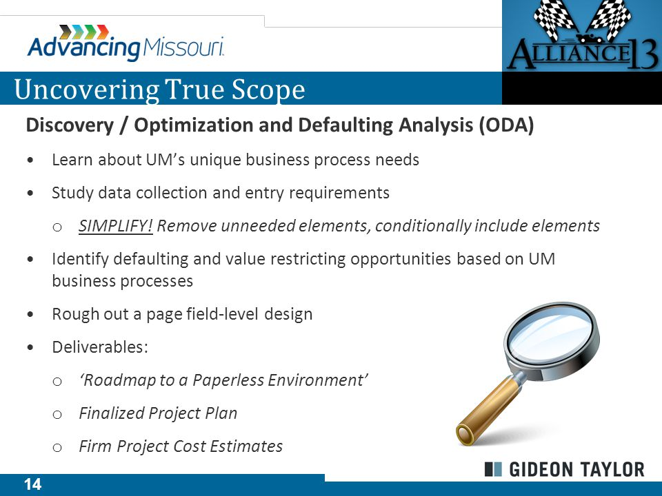 15 Following Discovery and ODA, the following scope emerged: ePAF™ (Hire, Job Change, Status Change eForms) Onboarding eForm Solution Paperless I-9™ with E-Verify Integration™ Plus… Security eForm Appointment Notification eForm Additional Pay, Extra Compensation eForm UM Scope Following Discovery Criminal Background Authorization eForm Position Data Request Roster & Retro eForm