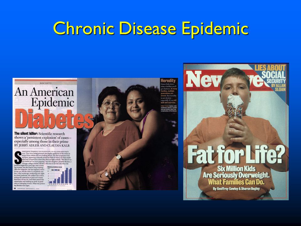 Chronic diseases account for 75% of the $1.4 trillion we spend on healthcare More than 125 million Americans live with chronic conditions, and millions of new cases are diagnosed each year More than 1.7 million Americans die of a chronic disease each year Statistics