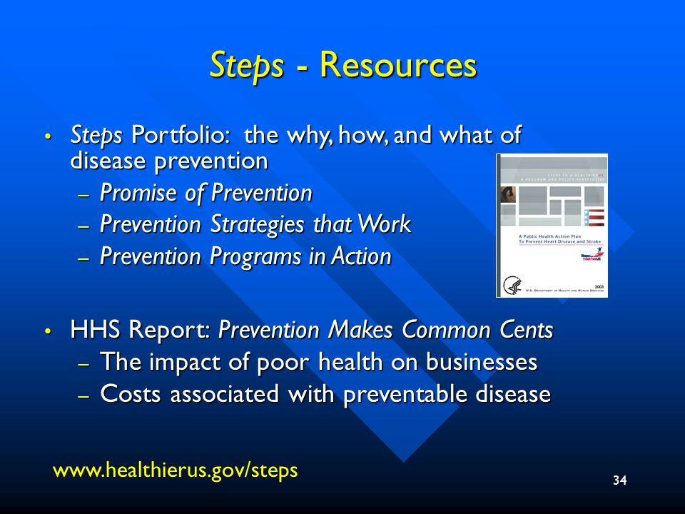 35 Public-Private Partnerships HHS invites partners to participate in Steps to a HealthierUS