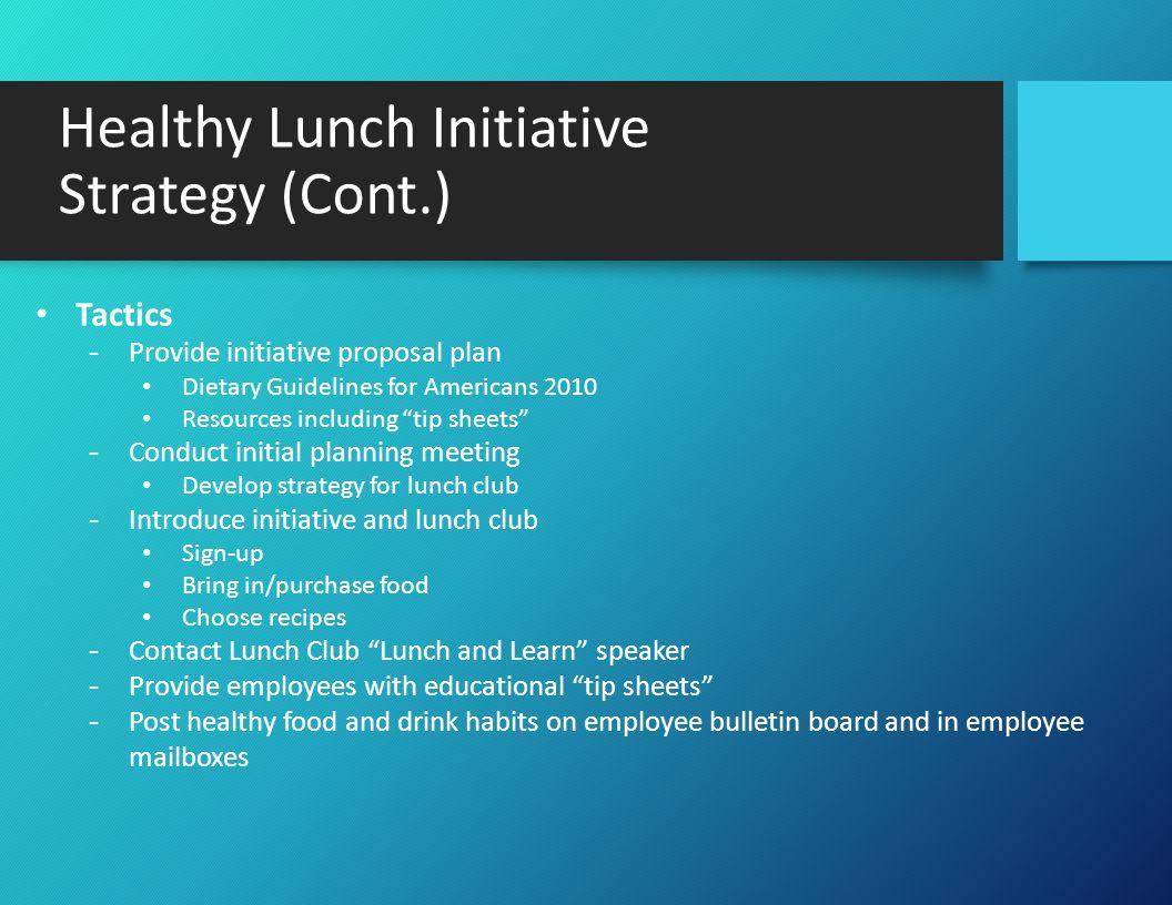 The Healthy Lunch Club